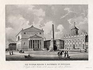 TA., Nicolaikirche und Rathaus ( Zustand vor 1843 ).: Potsdam: