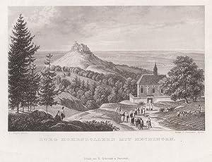 """Burgansicht m. Fernsicht n. Hechingen, """"Burg Hohenzollern mit Hechingen"""".: Hechingen: ..."""