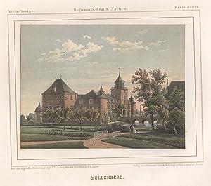 """Teilansicht, Ansicht von Schloß """"Kellenberg"""".: Jülich: Barmen:"""