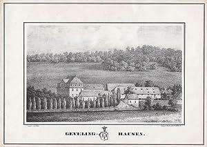 Ansicht des Gutshauses m. Wappen.: Olsberg: Gevelinghausen:
