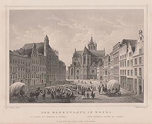 TA., Marktplatz mit Rathaus und Willibrordikirche.: Wesel: