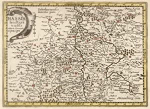 "Kupferstich- Karte, n. P. Kaerius b. Janssonius - Waesberge, ""Hassia landtgraviatus"".: ..."