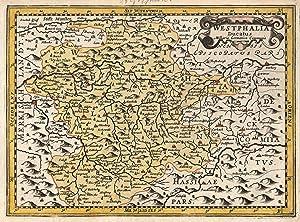 "Kupferstich- Karte, n. Mercator b. Janssonius - Waesberge, ""Westphalia Ducatus"".: Sauerland:"