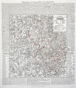 """Litho.- Karte, v. Kneisel b. Müller, """"Charte vom königlich preussischen Regierungsbezirk Trier ..."""