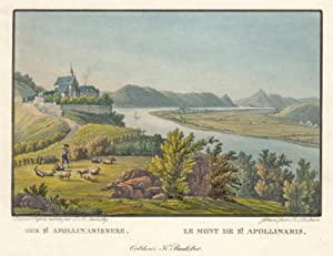 "TA., Apollinariskirche m. Blick z. Siebengeb., ""Der St. Apollinarisberg. Le mont ."".: ..."