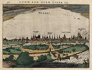 Gesamtansicht, übern Rhein.: Worms: