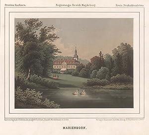 """Blick zum Schloß """"Marienborn"""".: Marienborn/Kr. Neuhaldensleben:"""
