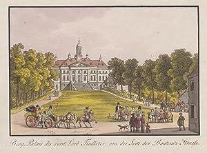 """Teilansicht, Palais Findlater, """"Berg-Palais des verst. Lord Findlatervon der Seite der Bautzner..."""
