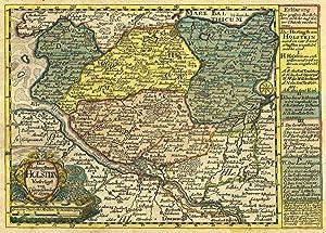 """Kst.- Karte, b. J. G. Schreiber, """"Das Herzogthum Holstein"""".: Holstein:"""
