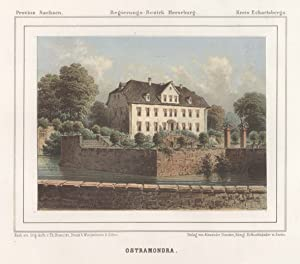 "Blick zum Rittergut ""Ostramondra"".: Ostramondra/Krs. Eckartsberga:"