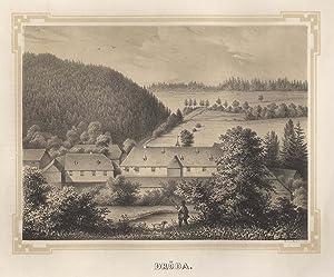 Ansicht des Rittergutes.: Dröda/Vogtland: