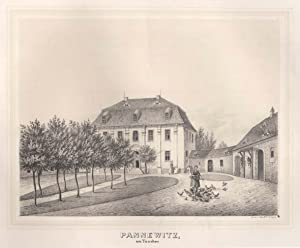 Ansicht des Rittergutes.: Pannewitz/ Taucher: