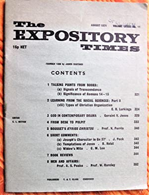 Bousset's Kyrios Christos. Essay in The Expository: Perrin N. Edited