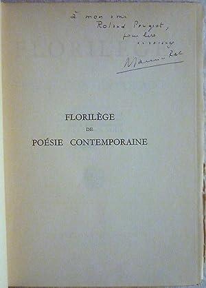 Florilège de poésie contemporaine: Collectif
