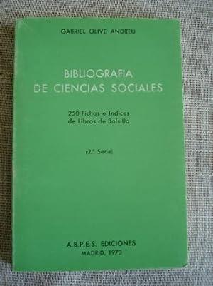 Bibliografía de ciencias sociales. 250 Fichas e: Olive Andreu, Gabriel