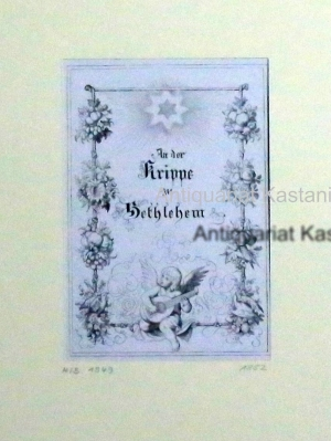 An der Krippe zu Bethlehem H-B 1949,Spätromantik,: Nach : Richter, Adrian Ludwig Fincke sc.