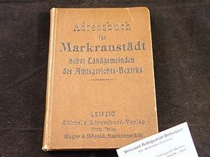 Bearb.) Adress- und Auskunftsbuch der Stadt Markranstädt. Einbandbeschriftung: Adressbuch für ...