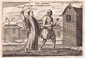 """Sinici Sacerdotes"" - China Asia Asien Strafe punishment Kupferstich antique print: Nieuhof..."