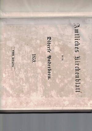 Amtliches Kirchenblatt für die Diöcese Paderborn.1859.,VIII. Jahrgang.,: Diverse