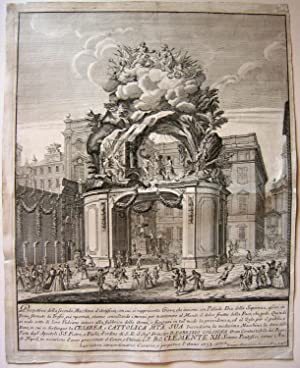 Prospettiva della Seconda Macchina d?Artifizio (sigue) in cui si distinque la Cesarea, e Cattolica ...
