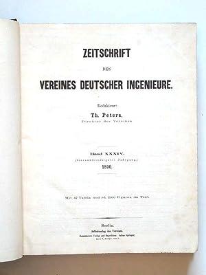 Zeitschrift des Vereines deutscher Ingenieure. Band XXXIV (34) Jahrgang 1890 Januar-Juni Heft 1-26....