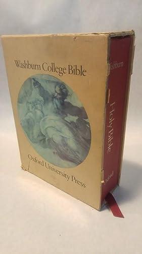 THE WASHBURN COLLEGE BIBLE: HOLY BIBLE, King: THOMPSON, Bradbury (designer)