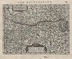 """Kst.- Karte, b. Janssonius, """"Austria Archiducatus"""".: Österreich ( Erzherzogtum ):"""