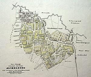 """Stadtplan, """"Kais. Königl. Polizey Bezirk Alsergrund."""".: Wien ( Vienna ): 09 Alsergrund:"""
