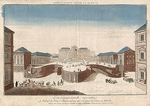 """Teilansicht, Palais Schwarzenberg, """"20e Vue d'Optique nouvelle, representanz le Palais du ..."""