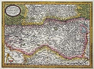 "Kupferstich- Karte, n. W. Lazius b. Ortelius, ""Austriae Ducatus Chorographia, Wolfgango Lazio ..."