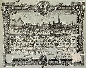 Gesamtans., auf einer Handwerkskundschaft der Wiener Schuhmacher.: Wien ( Vienna ):