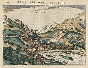"""Gesamtansicht, (Aufsicht), """"Inszpruck"""".: Innsbruck:"""