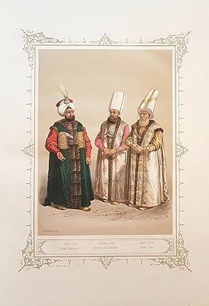 Elbicei Atika - Musée des anciens costumes turcs de Constantinople.: BRINDESI, Jean.