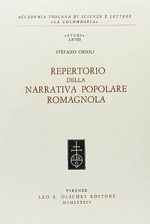 Repertorio della narrativa popolare romagnola: Orioli Stefano