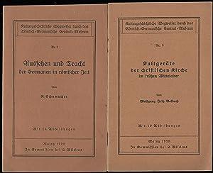 KULTURGESCHICHTLICHE WEGWEISER DURCH DAS RÖMISCH-GERMANISCHE CENTRAL-MUSEUM. [Konvolut von 4 ...