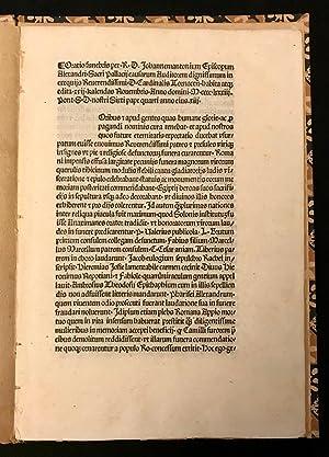 Immagine del venditore per Oratio in exequiis Cardinalis Tornacensis venduto da Symonds Rare Books Ltd