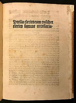 Immagine del venditore per STELLA CLERICORUM venduto da Symonds Rare Books Ltd
