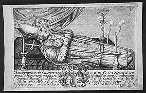 """Christophorus Ernestus Guttenberg"""" - Christoph Ernst Michelsberg Bamberg Portrait Kupferstich ..."""