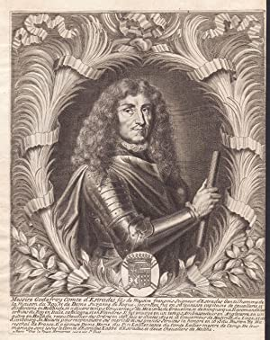 """Messire Godefroy comte d'Estrades"""" - Godefroi d'Estrades Paris Portrait gravure ..."""