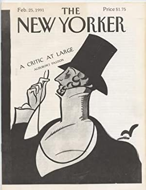 The New Yorker A Critic At Large: Audubon's Passion. Feb. 25, 1991