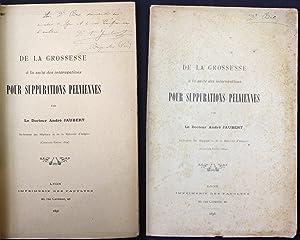 De la Grossesse a la suite des interventions Pour Suppurations Pelviennes: Jaubert, Andre, Dr.: