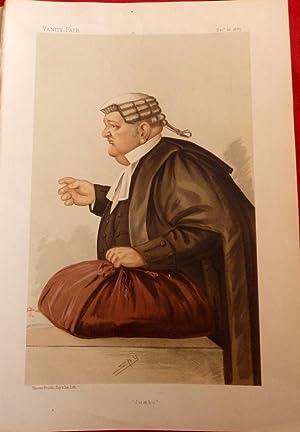 "Samuel Pope ""Jumbo"" Irish Lawyer. Vanity Fair Lithograph No 346. Dec 12th 1885: Spy"" ..."