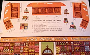 Co-Operative Society c1925-30. Model Grocery Shop (mint). with cut-out pieces and figures on large ...