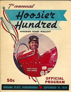 Indiana State Fairgrounds Hoosier 100 USAC Auto Race Program 1959-Sacks-VG