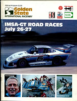 Golden State Int'l Raceway Auto Race Program 7/27/1980-IMSA-GT-Paul Newman-VF