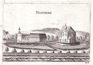 """Hainberg"""" - Hainberg Mank Melk Niederösterreich Kupferstich antique print: Vischer, Georg ..."""