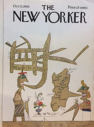 Paris; The New Yorker Magazine cover October 12, 1963