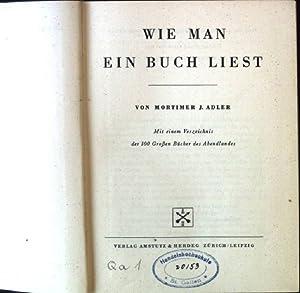 Bild des Verkäufers für Wie man ein Buch liest zum Verkauf von Petra Gros