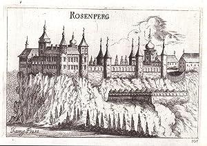 """Rosenprg"""" - Schloss Rosenburg Rosenburg-Mold Horn Kupferstich antique print: Vischer, Georg ..."""