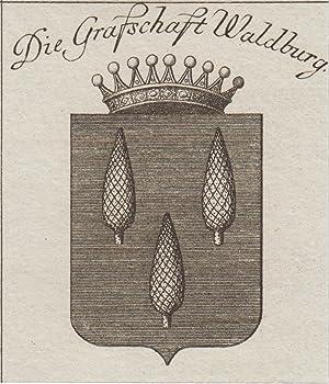 """Die Grafschaft Waldburg"""".: Waldburg/b. Ravensburg: Wappen ( Coat Of Arms ):"""